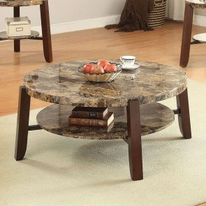 Lilith Coffee Table (Dark Faux Marble)