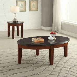 Faymoor Oval Occasional Table Set (Walnut)