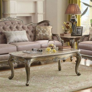 Fiorella Marble Top Occasional Table Set