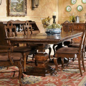 Rue de Bac Double Pedestal Dining Table