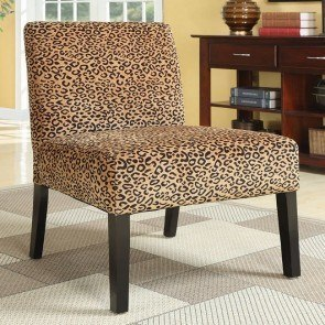Leopard Pattern Accent Chair