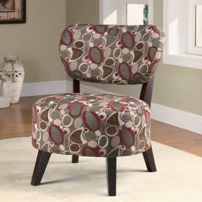 Oblong Pattern Accent Chair