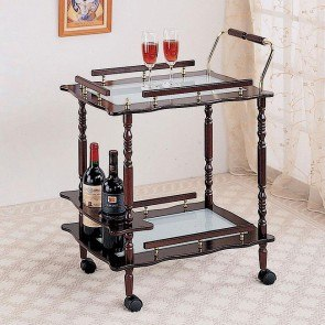 Cherry Finish Serving Cart