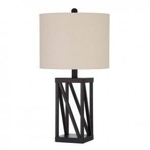Black Cut Out Table Lamp