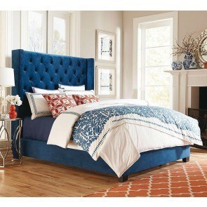 Westerly Upholstered Bed (Blue)