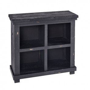 Willow 32 Inch Height Bookcase (Distressed Black)