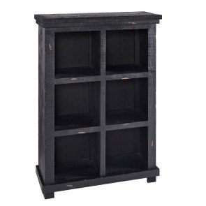 Willow 48 Inch Height Bookcase (Distressed Black)