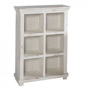 Willow 48 Inch Height Bookcase (Distressed White)