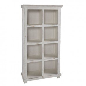 Willow 64 Inch Height Bookcase (Distressed White)
