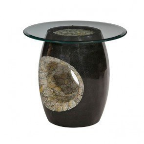 Discoveries Round Accent Table w/ Blackstone
