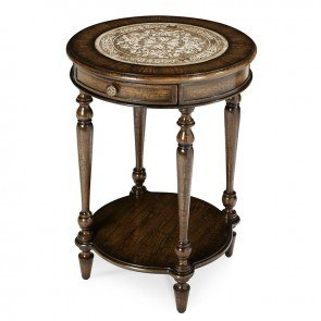 Discoveries Distressed Walnut Accent Table