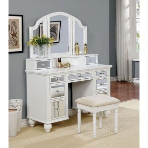 Tracy Vanity w/ Stool (White)