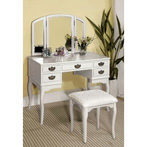 Ashland Vanity w/ Stool (White)