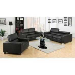 Makri Living Room Set (Black)