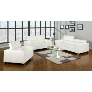 Makri Living Room Set (White)