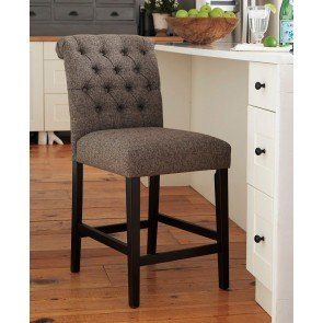 Tripton Graphite Upholstered Barstool (Set of 2)