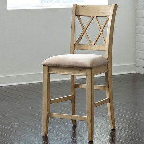 Mestler Upholstered Seat Barstool (Set of 2)