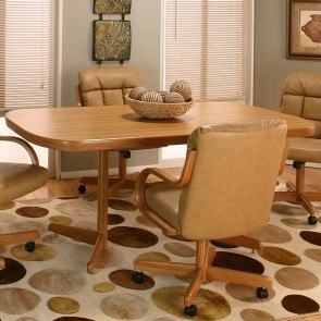 Atwood Rustic Oak Dining Table