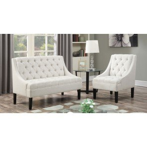 Avanti Powder Upholstered Living Room Set