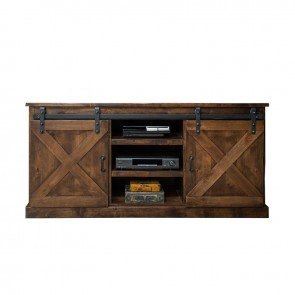 Farmhouse 66 Inch TV Console (Aged Whiskey)