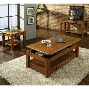 Nelson Occasional Table Set (Oak)