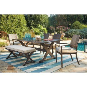 Moresdale Outdoor Dining Set w/ Bench