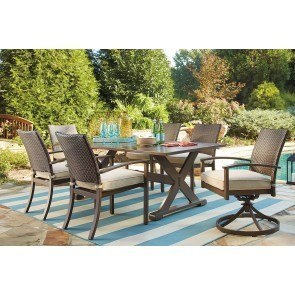 Moresdale Outdoor Dining Set w/ Swivel Chairs