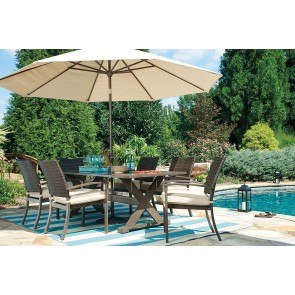 Moresdale Outdoor Dining Set w/ Umbrella