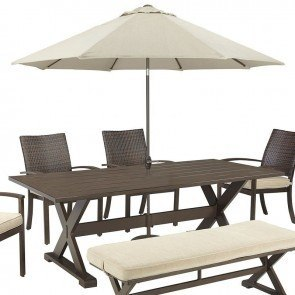 Moresdale Outdoor Dining Table w/ Umbrella