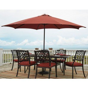 Tanglevale Outdoor Extension Dining Table w/ Umbrella