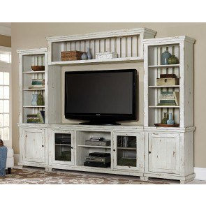 Willow Entertainment Wall (Distressed White)