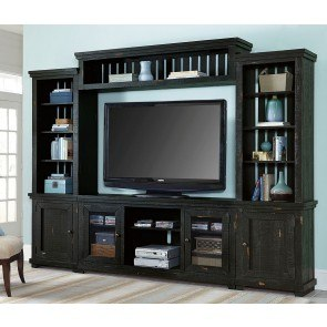 Willow Entertainment Wall (Distressed Black)