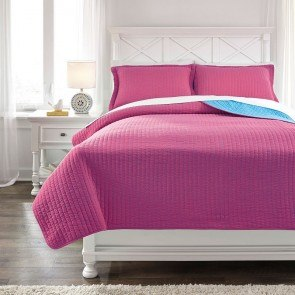 Dansby Magenta/Aqua Youth Coverlet Set