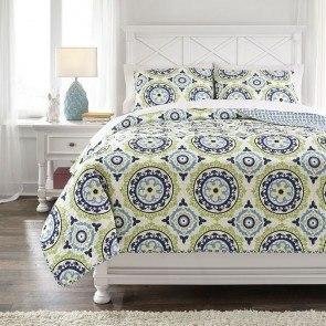 Danesha Blue/Green Youth Coverlet Set