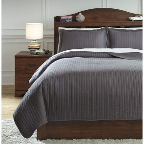 Raleda Gray Youth Coverlet Set