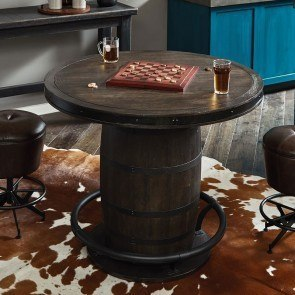Furniture City Brewing Stout Whiskey Barrel Gathering Table