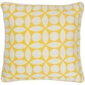 T-3599 Pillow in White/ Yellow (Set of 2)