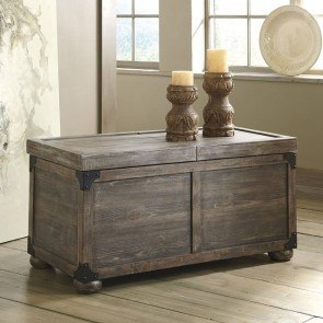 Rustic Accents Storage Cocktail Table (Driftwood)