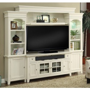 Tidewater Entertainment Wall w/ 62 Inch Console