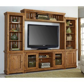 Willow Entertainment Wall (Distressed Pine)